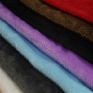 China knitting fleece fabric polyester super soft short pile plush Knitting Fabric on sale