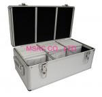 Best 300 / 500 Aluminium CD Storage Case , Aluminum CD Storage Box Easy For Transport. wholesale