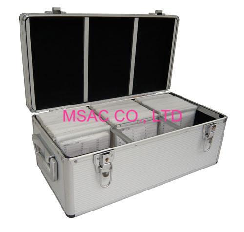 Cheap 300 / 500 Aluminium CD Storage Case , Aluminum CD Storage Box Easy For Transport. for sale