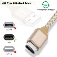 Cheap Short USB C to USB A Type C Charging Cable 1Ft Multicolors Nylon Braided for sale