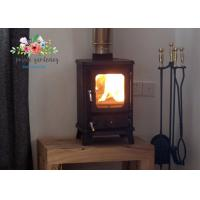 Cheap Customized Freestanding Cast Iron Fireplace / 4KW Indoor Wood Stove for sale