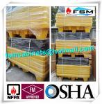Best Four Drum Spill Containment Pallets , HDPE Oil Drum Containment Pallet Stackable wholesale