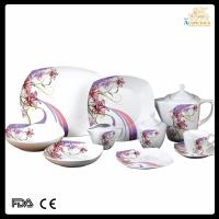 China 47 pcs high quality decal new bone china dinnerware on sale