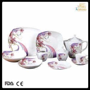 China 47 pcs high quality decal new bone china dinnerware on sale