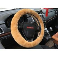 Best Anti Slip Universal Steering Wheel Cover , Genuine Sheepskin Steering Wheel Cover wholesale