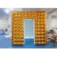 Best Gold Inflatable Photo Booth 2.5 X 2.5 X 2.5 M Two Doors CE Approved wholesale