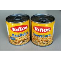 Best Tonos Brand Sweet Canned Corn Maiz Dulze 185g Lithographic Cans wholesale
