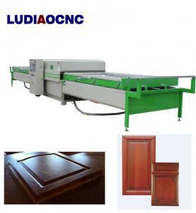 Best Automatic two tables PVC film wood veneer vacuum membrane laminating press machine for MDF door cabinet wholesale