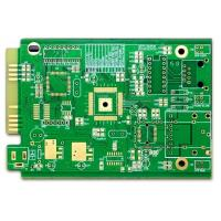 Best Computer PCB FR-4 4 Layer Pcb Prototype ENIG Green Soldmask White Silkscreen With Gold Finger wholesale