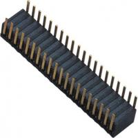 Best Phosphor Bronze 1.27mm 2x20 Female Header Dual Side Insert 90°DIP H=3.45 ROHS wholesale
