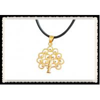 Best Tree of Life Necklace Pendant 24K Gold Plated Necklace Crystal Diamante Leaf wholesale