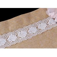 Best White Double Waves Edge Chemical Guipure Lace Trim With Scalloped Lace Borders wholesale