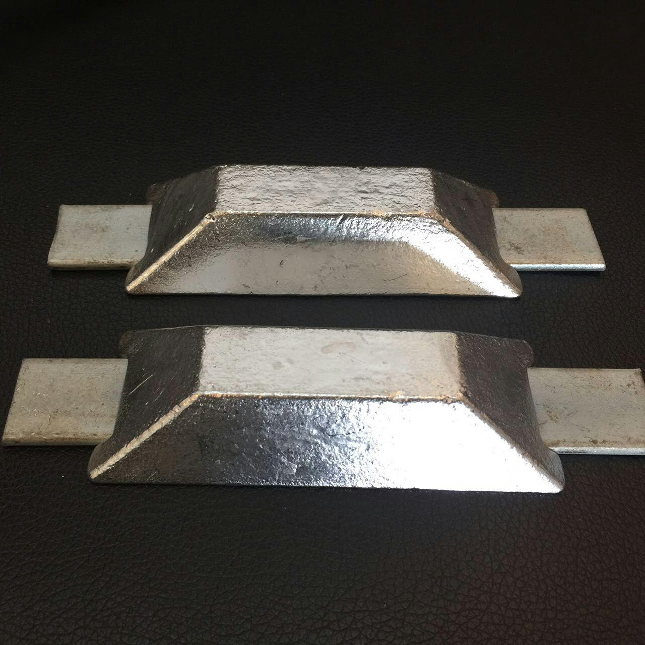 Best Alloy Sacrificial Anode Zinc Anode With Double Iron Feet For Ships Boats wholesale