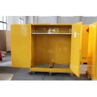 Best 1.0mm galvanized Steel Horizontal Inflammable Flammable Storage Cabinet 2 Manual Close Doors Chemical Liquid wholesale