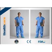 Buy cheap Children Disposable Scrub Suits Blue/Dark Blue Nonwoven For Cleaning Room from wholesalers
