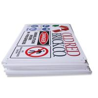 Best Silk Screen Printing ABS Plastic Signs Customized PVC Folding Safety Sign wholesale