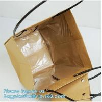 China Logo Personalized Portable Bouquet Flower Carrier Gift Packing Paper Bag,Kraft Paper Laminated Pp Woven Paper Bag Flower on sale