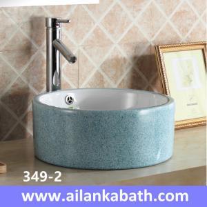 Best 2016 new model fashion blue color basin rectangular shape sanitary ware colorful art basin for bathroom wholesale