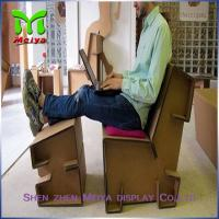 Cheap Customized Corrugated Foldable cardboard desk For Advertisement And Company Logo for sale