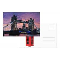 Best Tourist Souvenir 3D Lenticular Postcard London Landscape 5x7 Inches wholesale