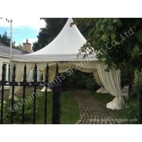 Quality Aluminum Profile High Peak Pole Tent Structure Decorated With Luxury Linings wholesale