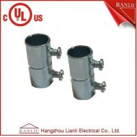 "Cheap Set Screw Coupling EMT Conduit Fittings With Steel Locknut 1/2"" to 4"" , UL E350597 for sale"
