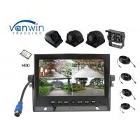 Best New Arrival 4 Channels HD car Monitor 7 Inch Reversing System with 4 cameras inputs wholesale