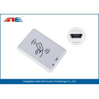 Compact Bluetooth NFC Reader , Desktop Square NFC Reader Integrated Key Handling