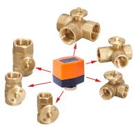 Buy cheap 110v Multiport Electric Motorized Water Ball Valve NPT Female Thread from wholesalers