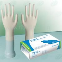 Best Clear AQL4.0 And AQL 1.5 , 4mil Vinyl Exam Gloves Beaded Cuff Powdered wholesale