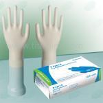Best Custom 4mil transparent blue , sterile non , medical and powder free vinyl exam gloves wholesale