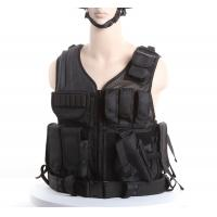 Cheap Black Police Swat Vest With Pouches & Belt , Molle Military Tactical Vest for sale