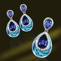 Buy cheap Popular 925 Sterling Silver Synthetic Blue Opal Jewelry, Synthetic Blue Opal from wholesalers