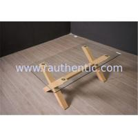 Best Tempered Glass Top Coffee Table And End Tables With Wooden Base Home Furniture wholesale