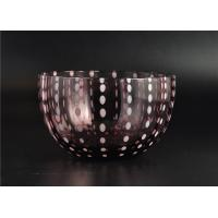 Best Home Decor Coloured Glass Candle Holders , Glass Jars For Candles wholesale