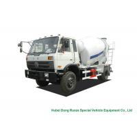Best Industrial 4x2 / 4x4 Mobile Concrete Agitator Truck 6 Cbm With 3 Seater wholesale