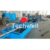 Best Step Beam Rack Roll Forming Machine With Welding Line , Servo Flying Saw Cutting Device wholesale