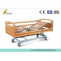 Best Movable Wood Electric Medical Hospital Beds With Four Noiseless Castors for Home (ALS-HE002) wholesale