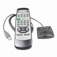 Buy cheap PC/Multimedia/PPT Presentation/Media Player Remote Control, Measures 189x62x22mm from wholesalers