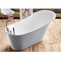 Best Classic Resin Acrylic Free Standing Bathtub With Faucet Oval Shaped wholesale