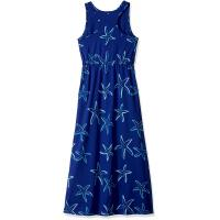 Best Blue Starfish Printing Little Girl Summer Dresses Kids Sleeveless Dress Round Neck wholesale