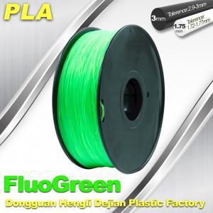Best 1.75 / 3mm PLA Fluo - Green Fluorescent  Filament for RepRap , Cubify wholesale