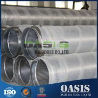 All-welded stainless steel 304 wire wrapped wedge wire screen pipe