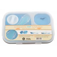 Best Dishwasher Oven Safe Silicone Lunch Box Food Container  With Salad Hole  Lid wholesale