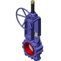 Quality Heavy Duty Knife Cast Steel Gate Valve With Tipe Handwheel And Rising Stem wholesale