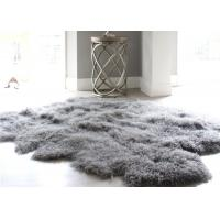 Best 12-13 Cm Wool Natural Home Sheepskin Rug , Mongolian Lamb Fur Throw Blanket  wholesale