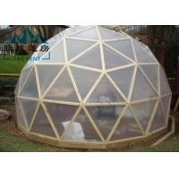 Best UV Resistant Geodesic Dome Tent With Double PVC Coated Polyester Textile wholesale