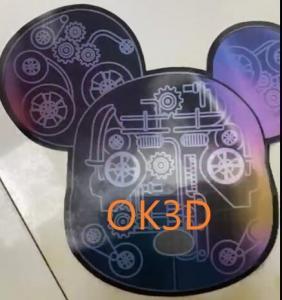 Best OK3D Lenticular plastic soft printing picture flexible 3d flip zoom morph motion animation lenticular printing service wholesale