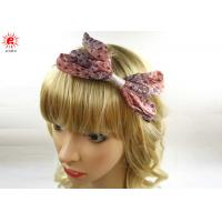 Stylish Hair Accessories Ladies Hair Bands With Bow , Customized