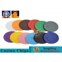 Best Lightweight ABS Hotstamping Logo Dice Poker Chip / Colorful Roulette Poker Chips wholesale